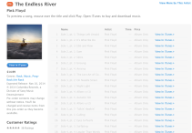 iTunes Pink Floyd The Endless River Online Satış