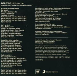 Rattle That Lock CD kabı