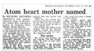 Atom Heart Mother'in adını aldığı gazete kupürü