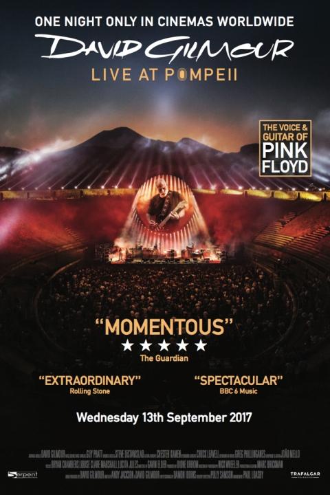 David Gilmour'un Pompeii konserinin tanıtım afişi